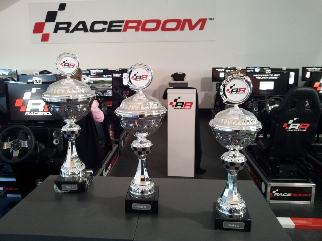Just like the real racer - the winners trophy