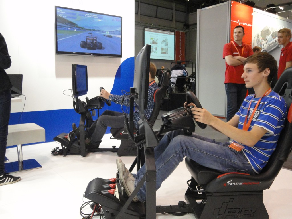 During your traide fair our simulators are always well frequented
